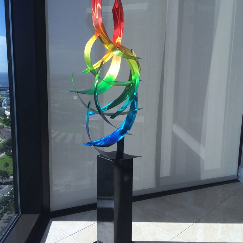 Abstract Rainbow Sculpture