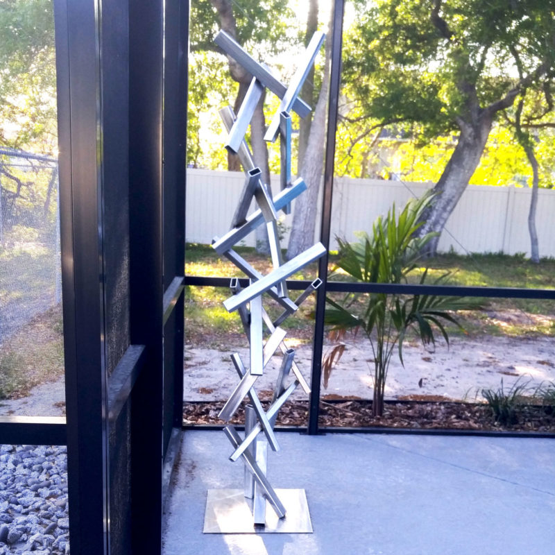 Modern Stainless Steel Sculpture