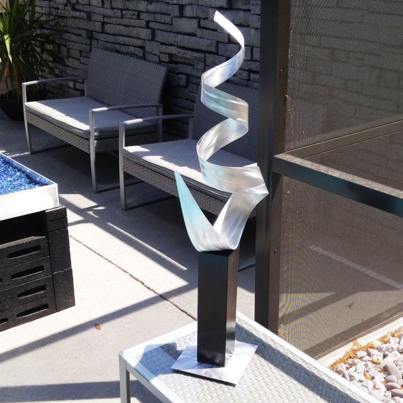Contemporary Silver Sculpture