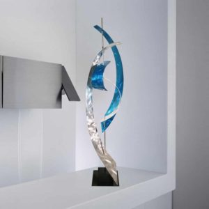 Contemporary Abstract Teal Sculpture