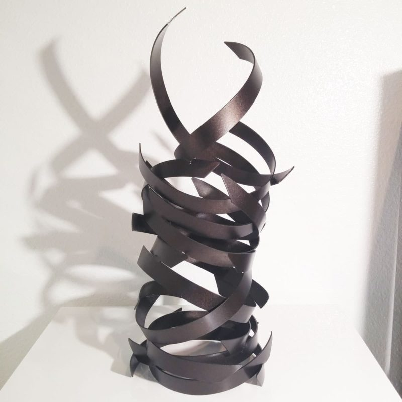 Modern Abstract Black Sculpture