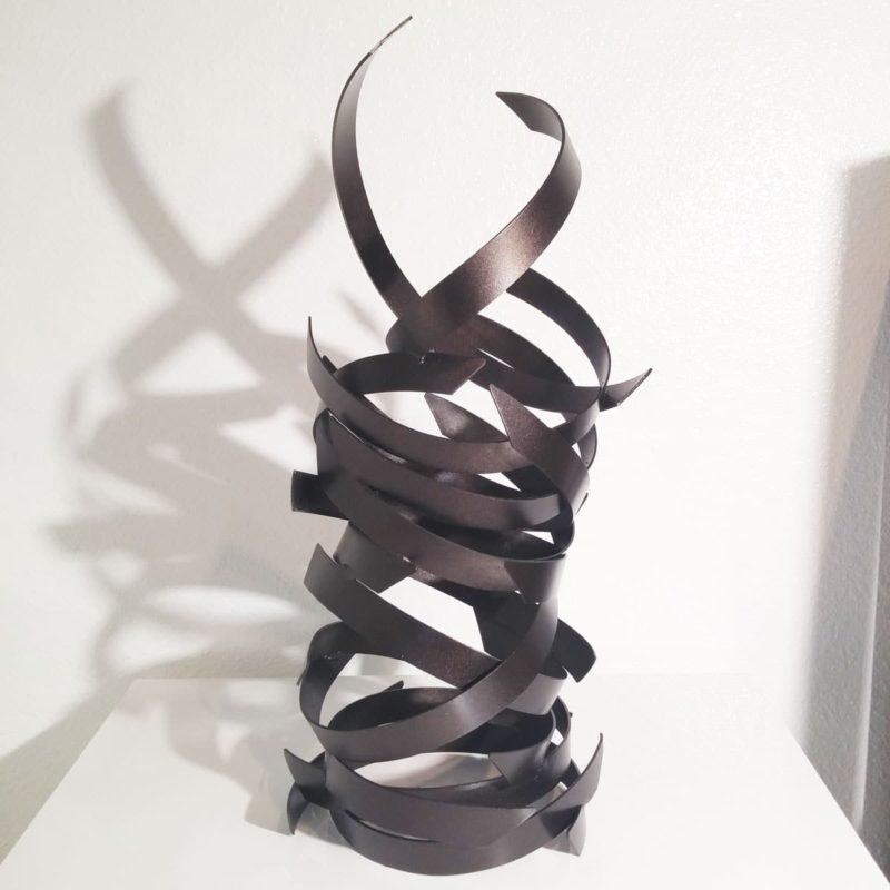 Modern Abstract Black Sculpture