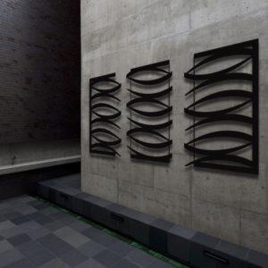 Modern Black Wall Sculpture