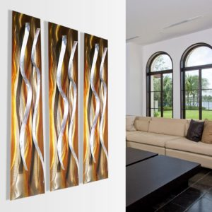 Contemporary Copper Metal Wall Sculptures