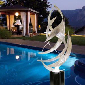 Modern Abstract Silver Sculpture