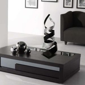 Contemporary Black Table Sculpture