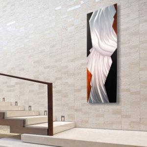Contemporary Copper & Silver Wall Art
