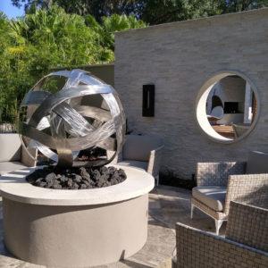 Large Fire Feature Sculpture