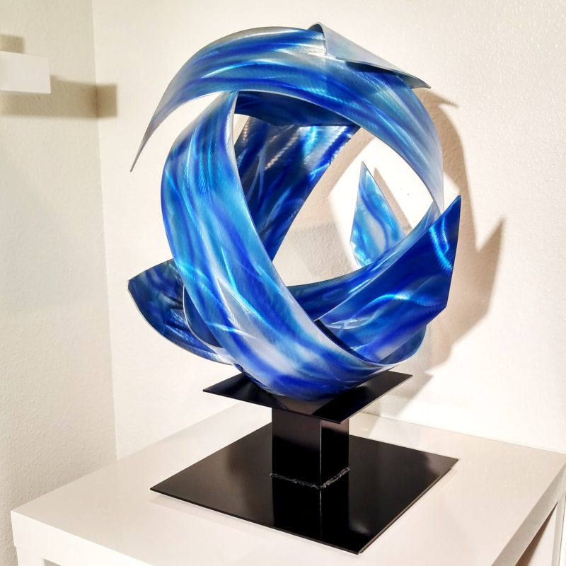 Blue metal art