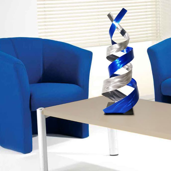 Contemporary Blue Table Sculpture