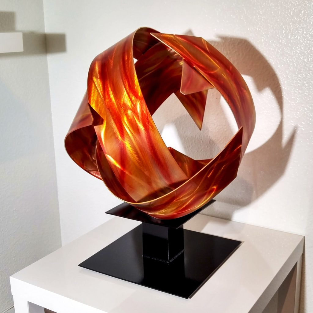 Copper Sphere Sculpture