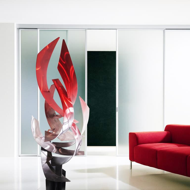 Modern Abstract Red Sculpture