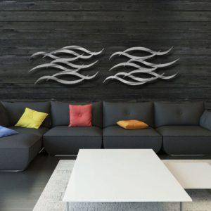 Modern Silver Wall Sculpture