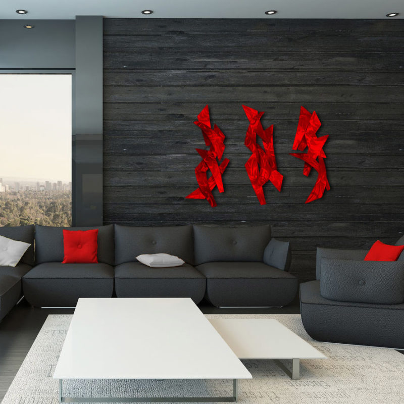 Red Wall Sculptures