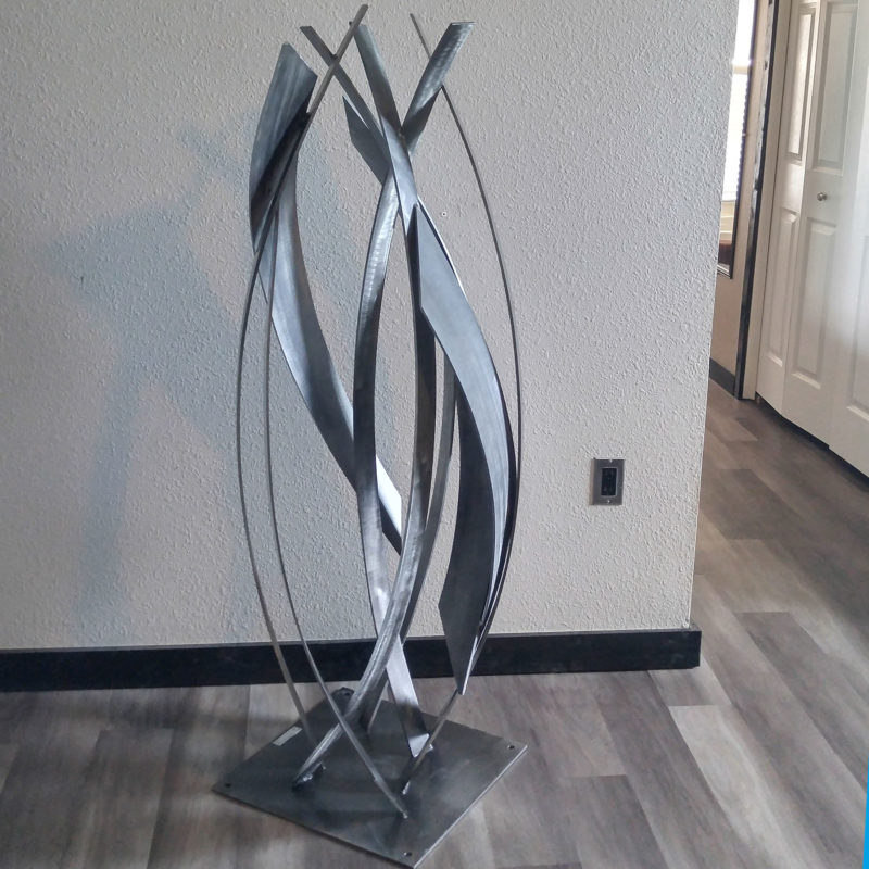 Large Gray Sculpture
