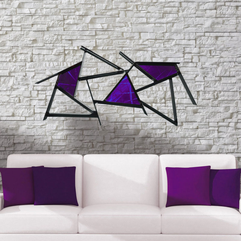 purple metal art