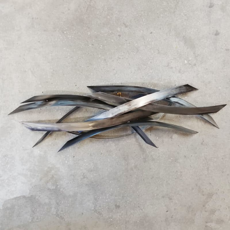 Black Stainless Wall Sculpture