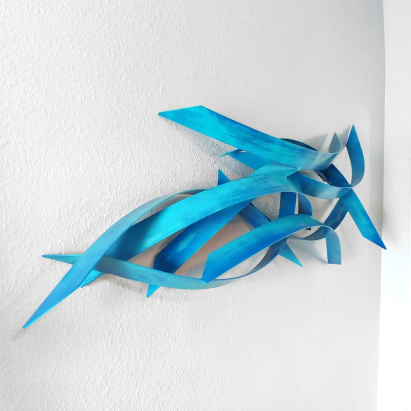 Teal Wall Sculpture