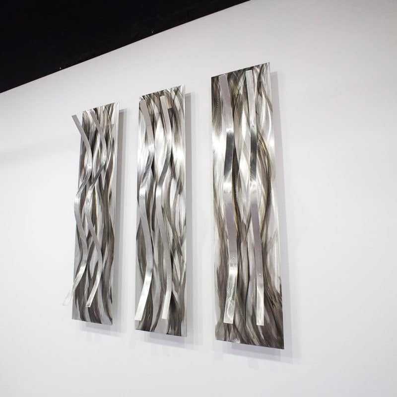 Grey Metal Wall Sculptures