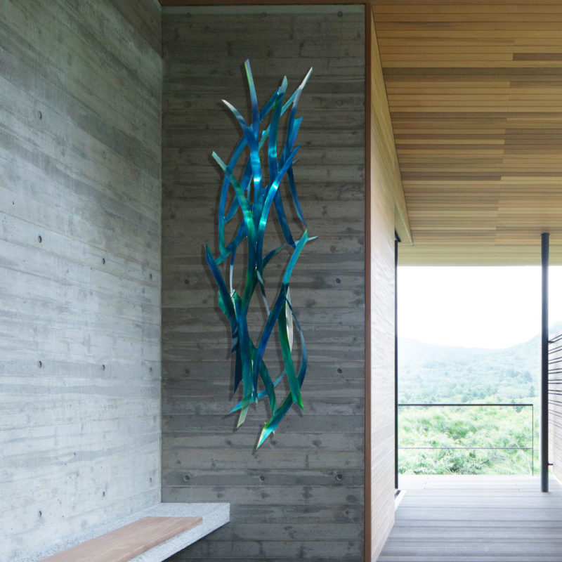 Teal Large Wall Sculpture