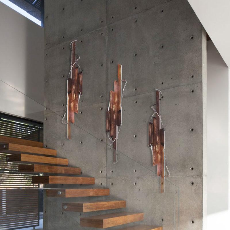 Modern Copper Wall Sculpture