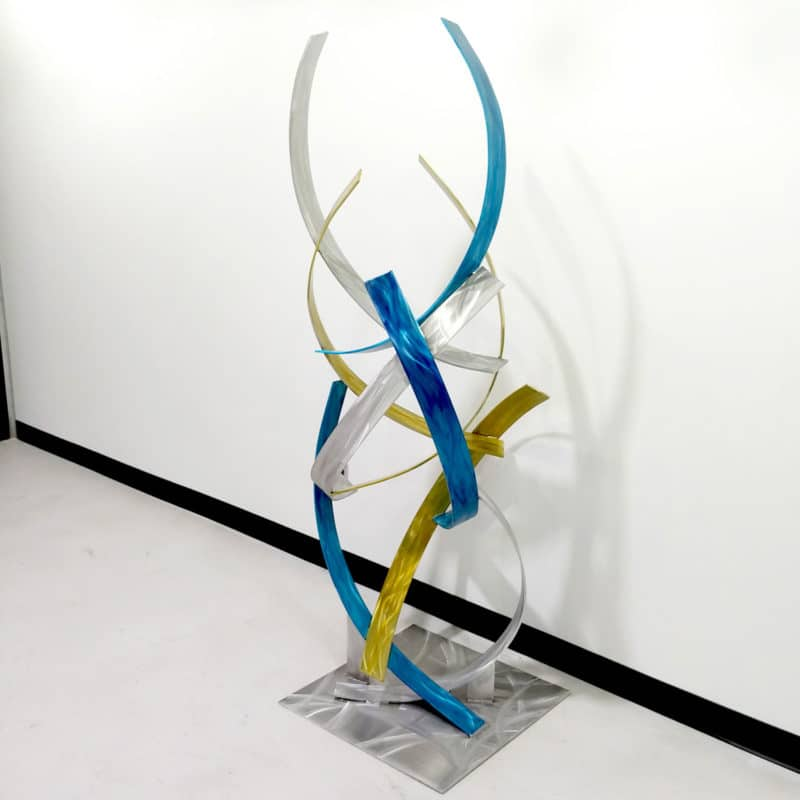 Blue Silver Gold Sculpture