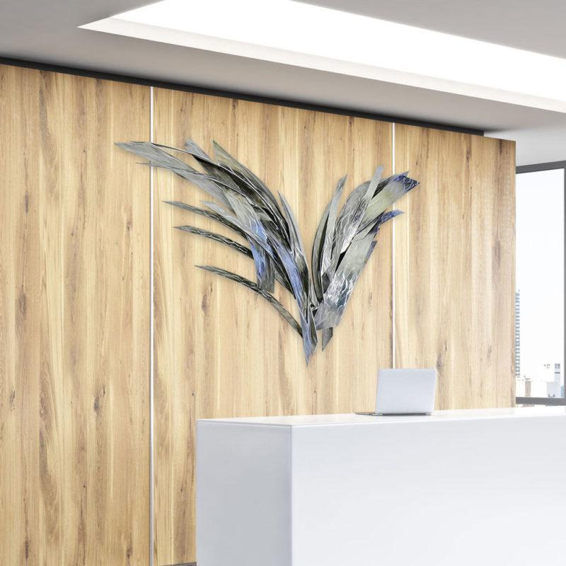 Metal Wings Wall Sculpture